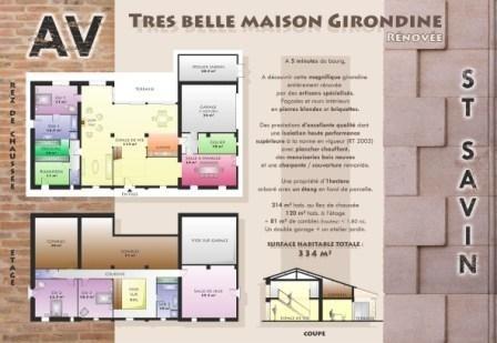Plaquette de vente d'une maison Girondine rénovée - de pflconcept